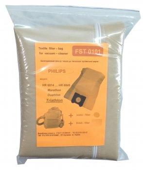 Багаторазовий мішок Filter Systems FST 0101 для великих пилососів PHILIPS серії Triathlon + фільтри