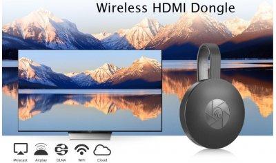 Адаптер стример беспроводной HDMI Wi-Fi Chromecast Anycast G2 - подключение устройства к ТВ