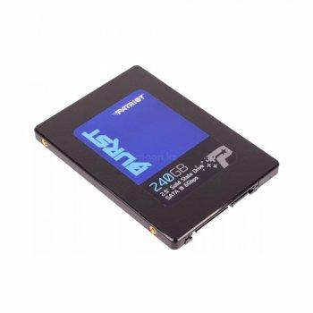 """Накопичувач 240Gb, Patriot Burst, SATA3, 2.5"""", TLC 3D, 555/500 MB/s (PBU240GS25SSDR)"""