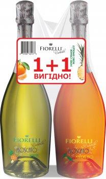 Набор коктейлей Fiorelli Moscato Ananas золотистый сладкий 0.75 л 6.5% + Fiorelli Moscato Mandarino оранжевый сладкий 0.75 л 6.5% (657258332133)