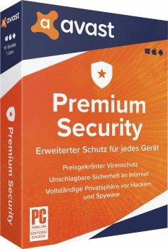 Антивірус Avast Premium Security (Multi-Device) 1 ПК на 2 роки (електронна ліцензія) (AVAST-PSMD-1-2Y)