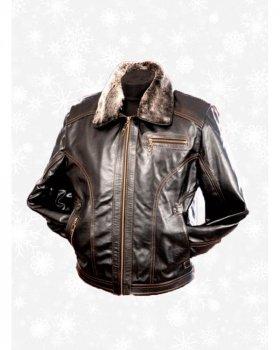 Куртка кожаная мужская Verona _2 -60 Коричневый