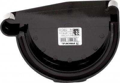 Заглушка жолоба Profil ліва L 130 Чорна (5906775639900)