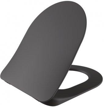 Унітаз підвісний CREAVIT Free FE320-11AM00E-0000 + сидіння Soft Close KC0903.01.0400E дюропласт антрацит матовий