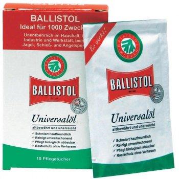 Серветки Klever Ballistol для догляду за зброєю 10 шт/уп (21950)
