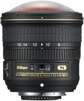 Nikon AF-S Fisheye Nikkor 8-15 mm f/3.5-4.5E ED (JAA831DA) Офіційна гарантія!