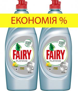Средство для мытья посуды Fairy Platinum Лимон и лайм 650 мл х 2 шт (8001841761046)