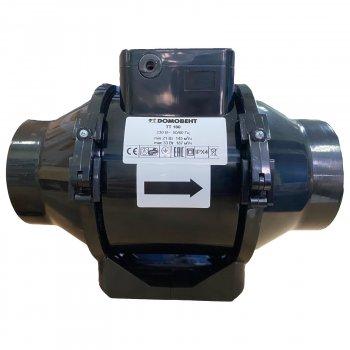Канальный вентилятор Домовент TT 100, цвет черный, аналог Вентс ТТ 100 (Domovent TT 100)