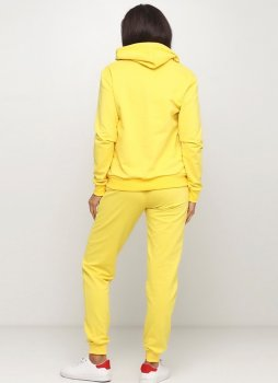 Спортивный костюм женский Solo худи+штаны Желтый
