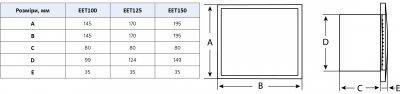 Вытяжной вентилятор Europlast E-EXTRA EET100HT белый