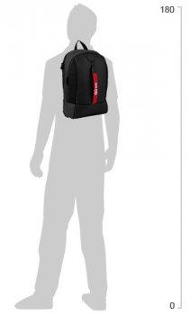 Рюкзак для міста GoPack City унісекс 450 г 44.5 х 30 х 11 см 16.5 л Чорний (GO20-151L)