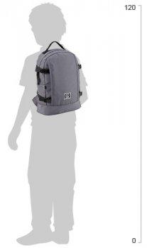 Рюкзак для міста GoPack City унісекс 300 г 35.5 х 25.5 х 13 см 11.5 л Сірий (GO20-148S-3)