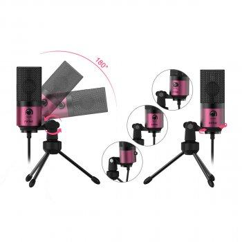 Студійний USB мікрофон fifine K669 Рожевий (164)