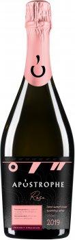 Вино ігристе Apostrophe рожеве напівсолодке 0.75 л 10-13% (4820233640059)