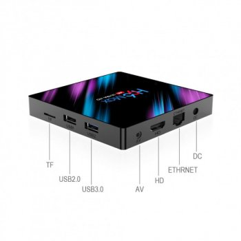 Смарт ТВ Приставка H96 MAX Android 10.0 Smart TV Box 4/64 Гб Rockchip RK3318 1080P Full HD, Ultra HD (4K 30Hz) 3D Original Black