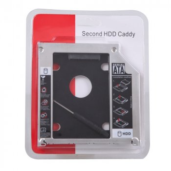 "Карман-адаптер Optibay 12.7мм для подключения 2.5"" HDD/SSD SATA 3.0 Second HDD Caddy"