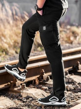 Карго брюки BEZET Hunter black'20