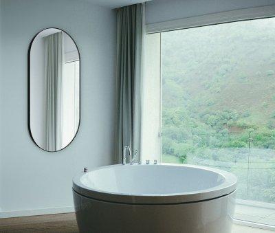 Зеркало J-MIRROR Inox S Black 110x50