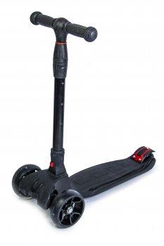 Самокат Scooter Smart Чорний Складна ручка світяться колеса (SD 839416414)
