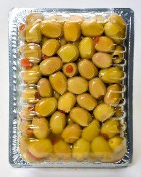 Оливки зеленые Fimtad фаршированные перцем 400 г (8681957371546)