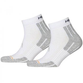Носки Head Performance Quarter 2P Grey/White 741018001-300 (2 пары) Размер: 35-38