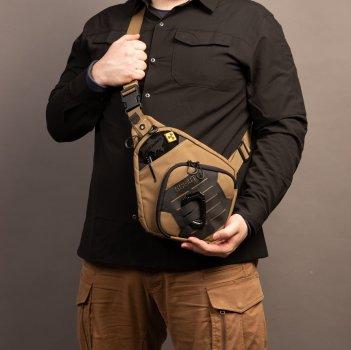 Тактическая сумка-кобура для скрытого ношения Scout Tactical EDC crossbody ambidexter bag coyot/black