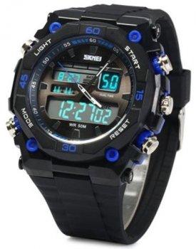 Чоловічий годинник Skmei 1092 Black-Blue BOX (1092BOXBB)