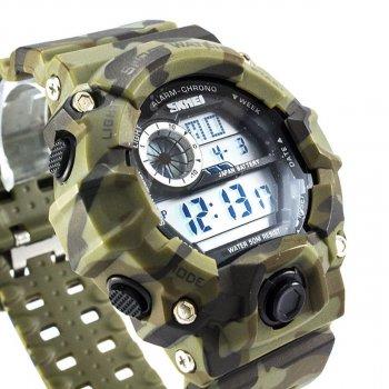 Чоловічий годинник Skmei 1019 Green Camouflage BOX (1019BOXGC)