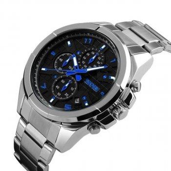 Мужские часы Skmei 9109 Silver Black Dail BOX (9109BOXSBK)