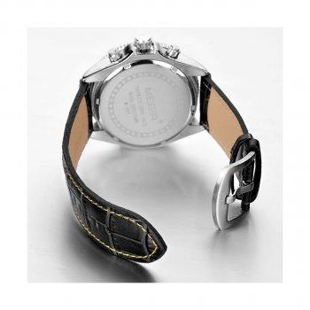 Мужские часы Megir Silver White Black MG3001 (ML3001GBK-7)