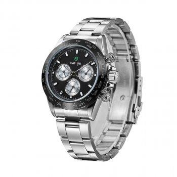 Мужские часы Weide Black WH3309-1C SS (WH3309-1C)