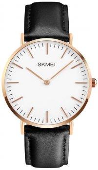 Мужские часы Skmei 1181 Cruize White Black Leather BOX (1181BOXWTBK)