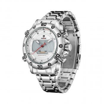 Мужские часы Weide White WH6910-2C SS (WH6910-2C)