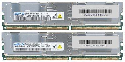 Оперативна пам'ять Fujitsu DDR2-RAM 8GB Kit 2x4GB PC2-5300F ECC 2R (M395T5160QZ4-CE66) Refurbished