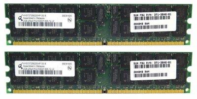 Оперативна пам'ять Sun Microsystems DDR2-RAM 4GB Kit 2x2GB PC2-5300P ECC 2R (371-3846-01) Refurbished