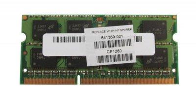 Оперативна пам'ять HP 4GB (1*4GB) 2RX8 PC3-12800S SODIMM MEMORY DIMM (641369-001) Refurbished