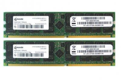 Оперативна пам'ять NetApp DDR-RAM 4GB Kit 2x2GB PC2700R ECC (HYS72D256320HBR-6-C) Refurbished