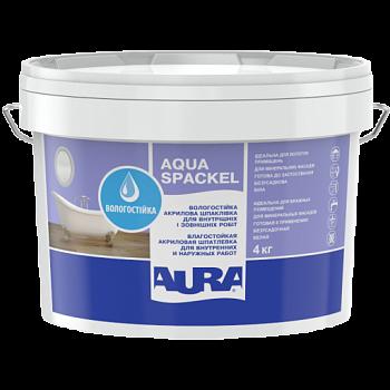 Вологостійка шпаклівка для внутрішніх і зовнішніх робіт Aura Aqua Spackel 1.2 кг біла