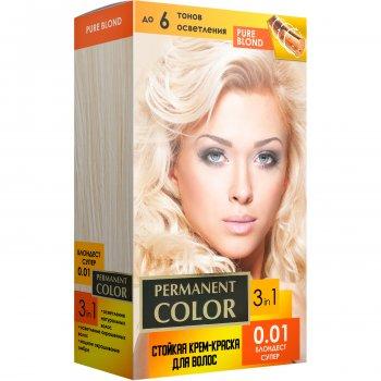 """Крем- краска для волос Аромат """"Permanent color"""" (тон 0.01) блондест супер (4820147055284)"""