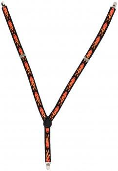 Подтяжки Trаum 8510-33 Черные с оранжевым (8510-33)
