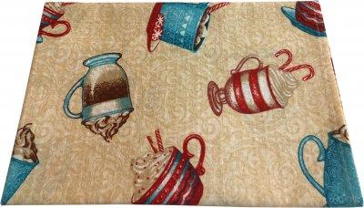 Вафельное полотенце Зоряне Сяйво Чашки 45х60 (911_Чашки)