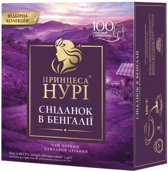 Чай чорний пакетований Принцеса Нурі Сніданок у Бенгалії 100 х 2 г (4823096806778)