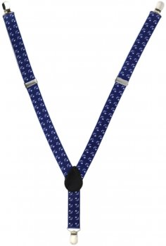 Подтяжки Trаum 8530-05 Синие с белым (8530-05)