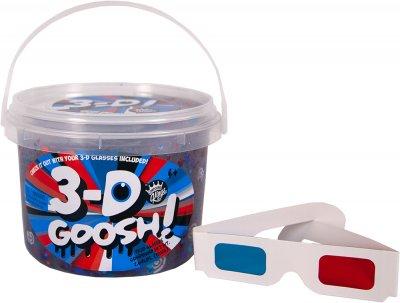 Лизун с 3D эффектом Compound Kings Slime 3-D Goosh с очками Красный-Белый-Голубой 1200 г (300114-1) (760939630036)