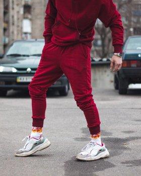 Спортивные штаны Over Drive Jog бордовые
