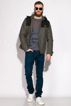 Стильна демісезонна куртка Time of Style 120PCHB002 Темно-зелений/чорний