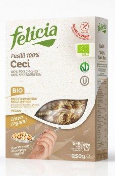 Органічна паста Felicia з з нуту Fusilli (100% нутове борошно) 250 г