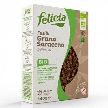 Органічна паста Felicia гречана Fusilli (100% гречане борошно) 340 г