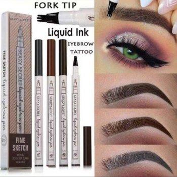 Водостійкий олівець-маркер для брів 24 HOURS LONG LASTING, колір коричневий