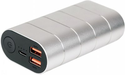 УМБ Verbatim 10000 mAh Silver Metal (49573)